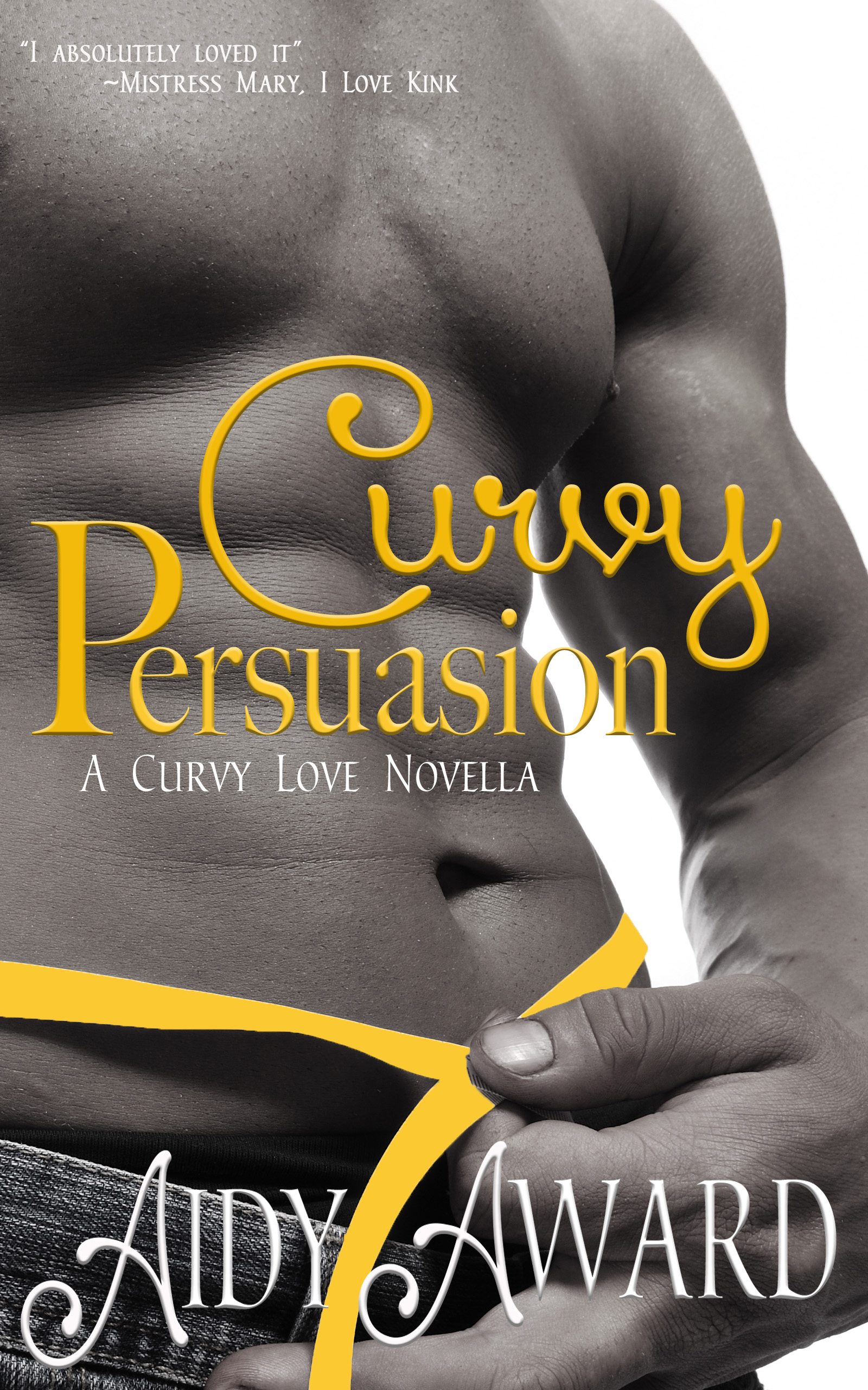 Curvy Persuasion Man with yellow ribbon