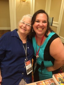 I'm having a fangirl moment posing for a picture with Carolyn Brown